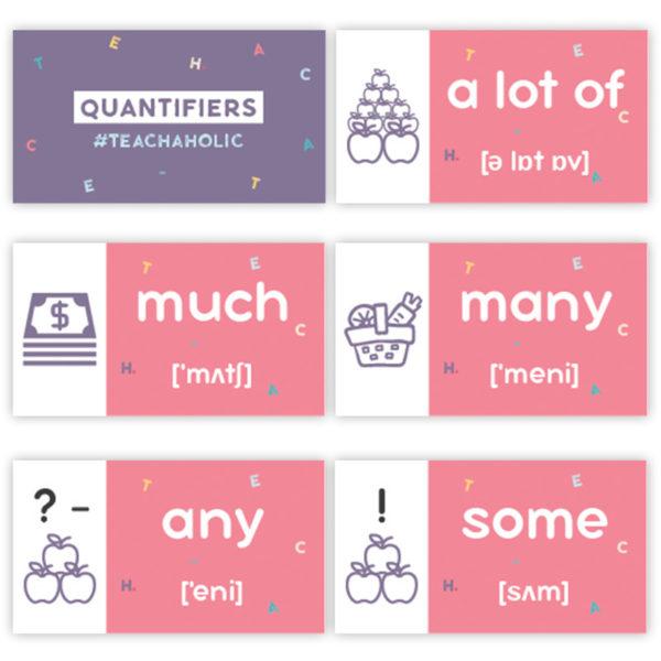 карточки для урока английского quantifiers