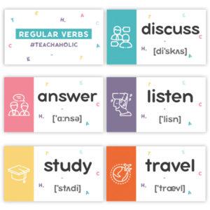 карточки со словами на английском языке