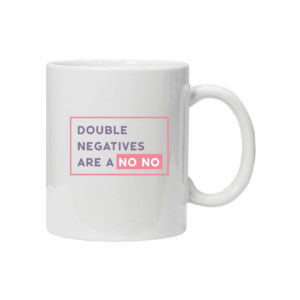 чашка для учителя английского double negatives