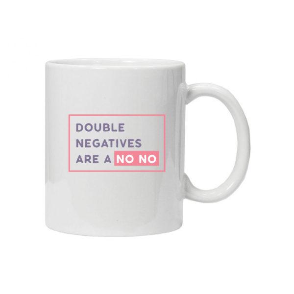 чашка для учителя английского double negatives
