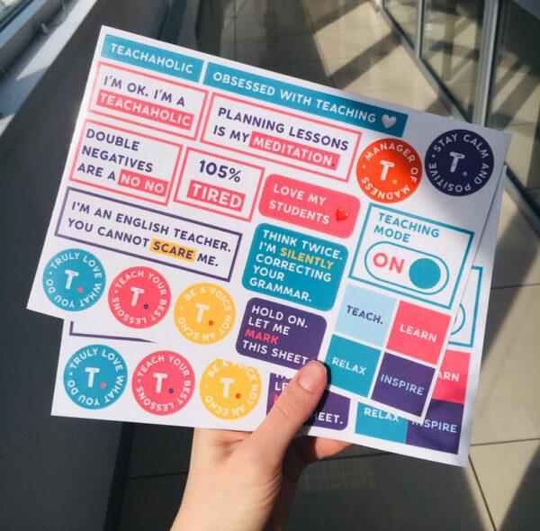 стикеры для учителя английского