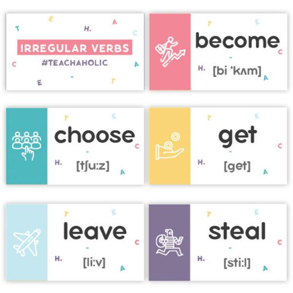 карточки с неправильными глаголами купить